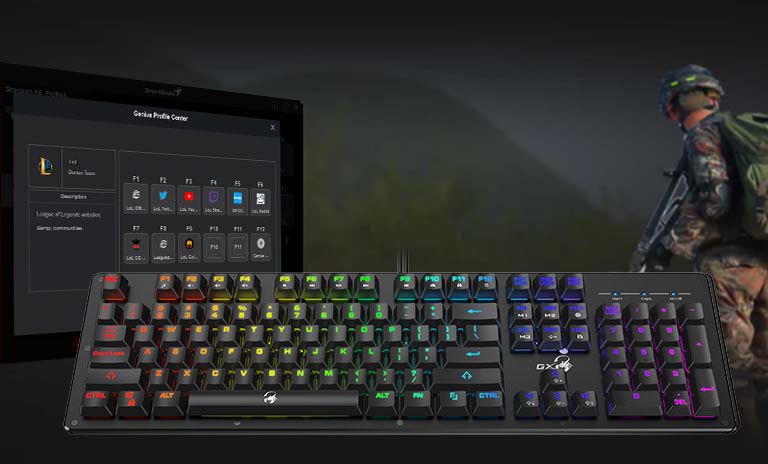 Genius Gaming Keyboard With Rgb Backlight And Mechanical