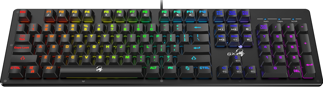 Genius Gaming Keyboard with RGB Backlight and Mechanical Feel Keycap