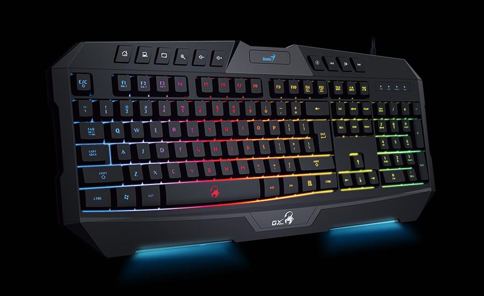 Genius Scorpion K20 Gaming Keyboard With Backlight Anti ghosting Keys Multimedia Keys And
