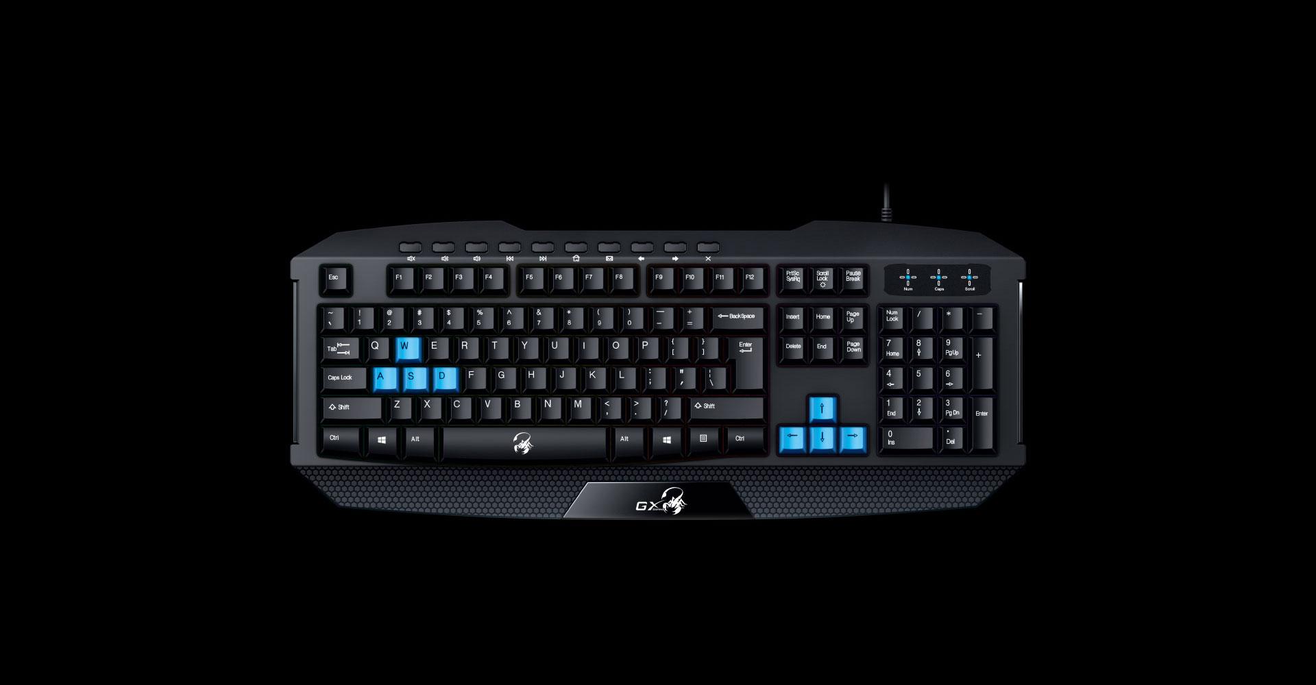 Genius Scorpion K215 - gaming keyboard with backlight