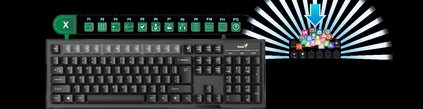 Genius Smart keyboard with Genius Key - Smart KB-102