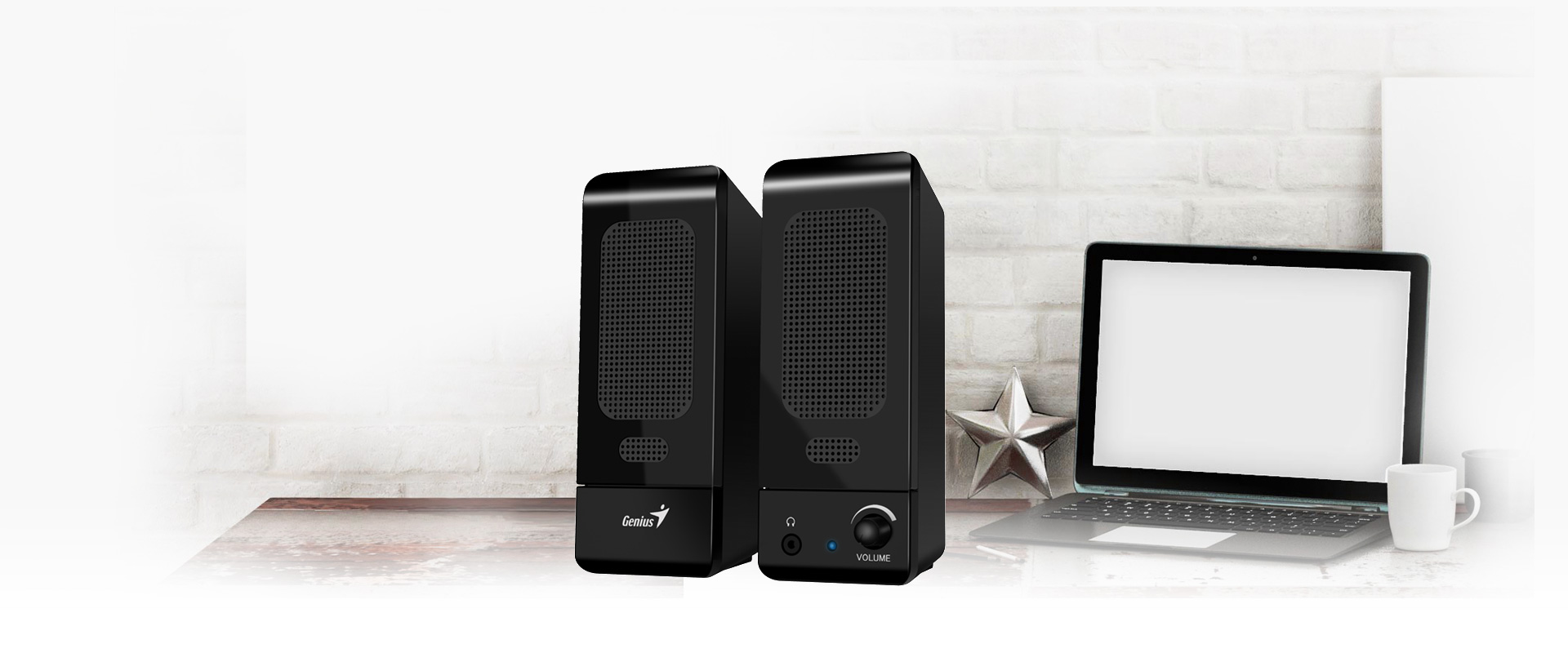 Genius 20 Computer Speaker With Clear And Rich Sound Spu120 Usb Powered Stereo Schematic Design Best Music Partner